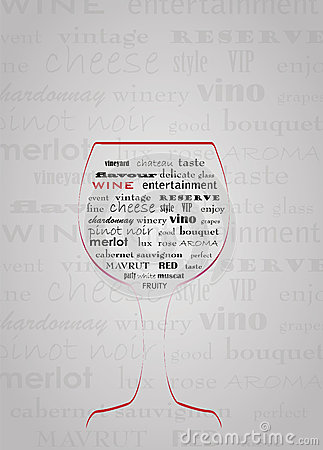 Abstract wine concept