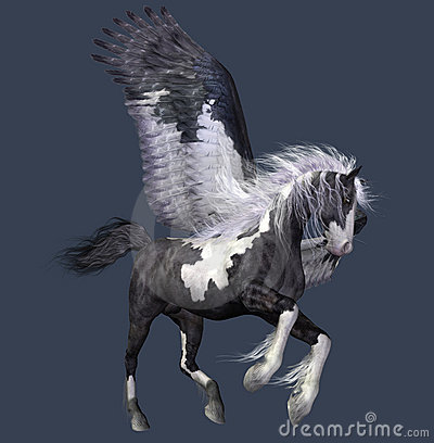 Abstract winged horse