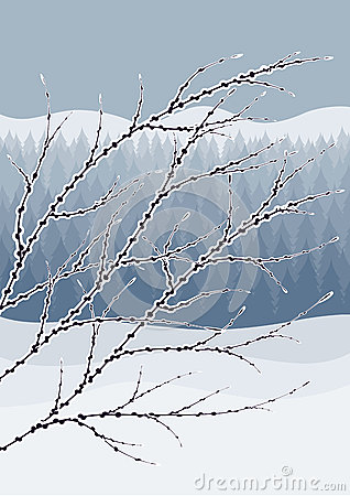 Free Abstract Winter Landscape Royalty Free Stock Images - 28447749
