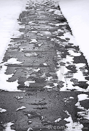 Abstract Winter Sidewalk