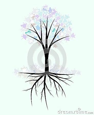 Abstract winter tree