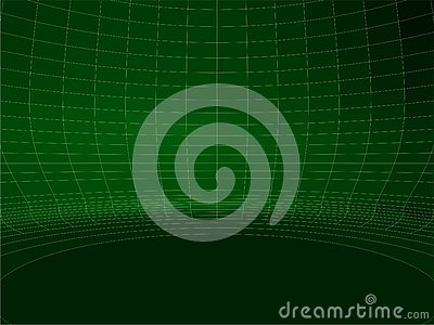 Abstract Wire Net Green Round Wall Structure Vector 02