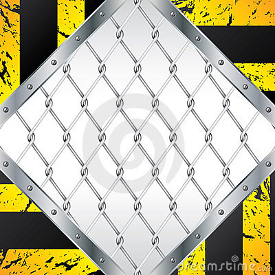 Abstract wired fence design with grunge striped el