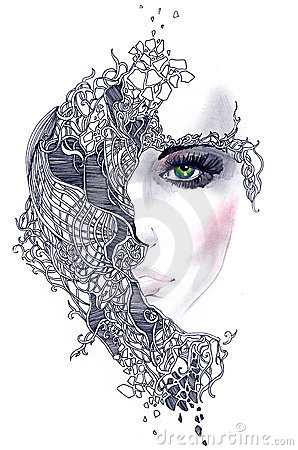 Abstract Woman Face Stock Photography - Image: 23589442