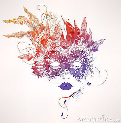 Free Abstract Woman Face With Flowers Stock Photography - 24502982