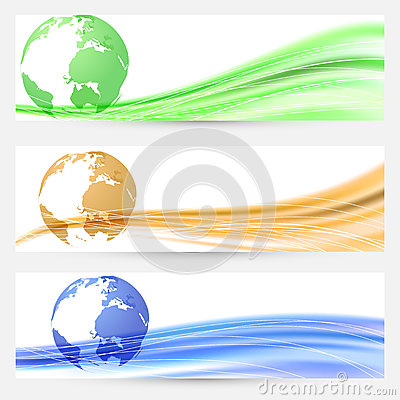 Abstract world map colorful cards collection