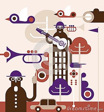 Abstract world - vector illustration