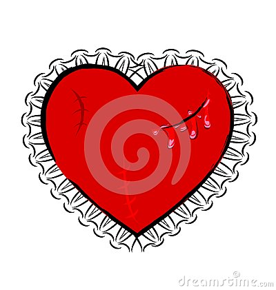 Free Abstract Wounded Heart Stock Photography - 48323612