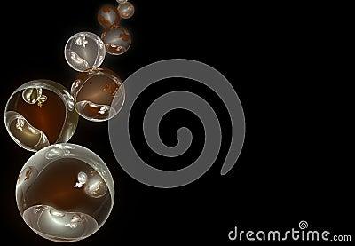 Abstract xmas balls