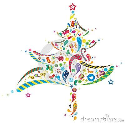 Free Abstract Xmas Tree Royalty Free Stock Images - 11129929