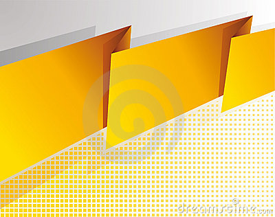 Abstract yellow banner
