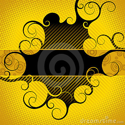 Abstract yellow-black background