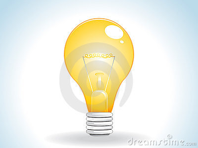 Abstract yellow bulb icon