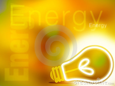 Abstract yellow energy illustration