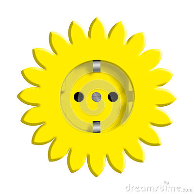 Free Abstract Yellow Flower With Power Socket Stock Images - 25160514