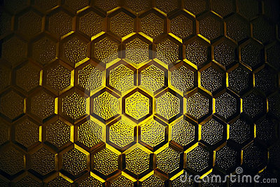 Abstract yellow glass texture