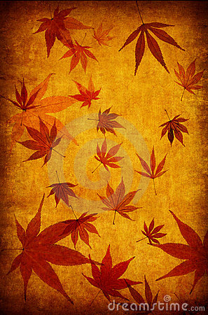 Abstract yellow grunge autumn background