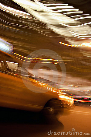 Abstract Yellow Taxi Cab