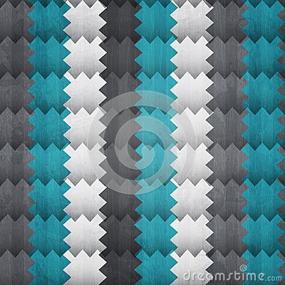 Abstract zigzag seamless pattern with grunge effect