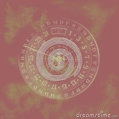 Abstract zodiac calendar.