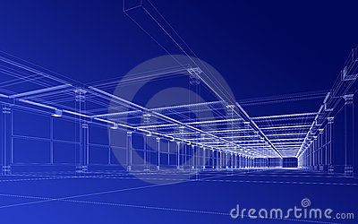 Abstracte architecturale bouw