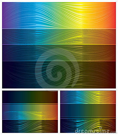 Abstracte geplaatste spectrumachtergronden