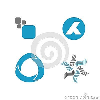 Abstracte Geplaatste Symbolen