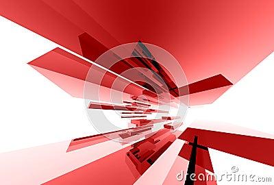 Abstracte glaselementen 033