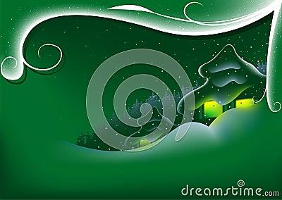 Abstracte Groene Kerstmis