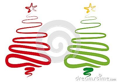 Abstracte Kerstmisboom,