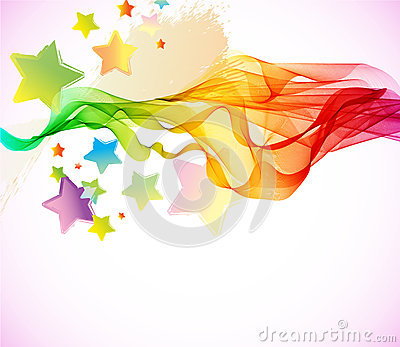Abstracte kleurrijke achtergrond met golf