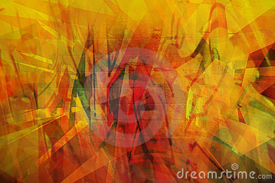 Abstracte Sinaasappel