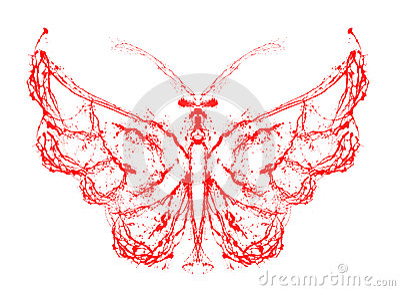 Abstracte vlinder