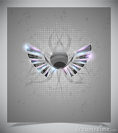 Free Abstraction Grey Background With  Wings.vector Stock Photo - 39098620
