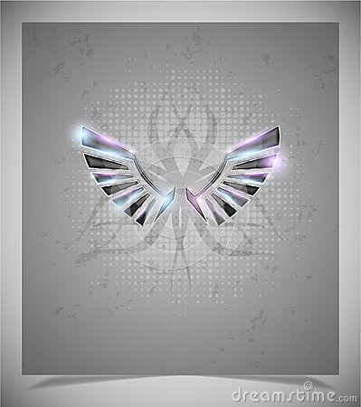 Free Abstraction Grey Background With  Wings.vector Royalty Free Stock Photography - 39099507