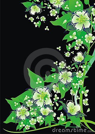 Abstracts floral background