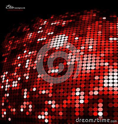 Abstrakcjonistyczna tła błyskotliwości mozaiki czerwień