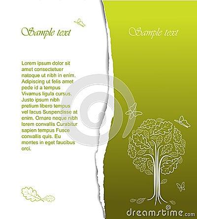 Abstrakcjonistycznego rysunku stylizowany drzewny rocznik