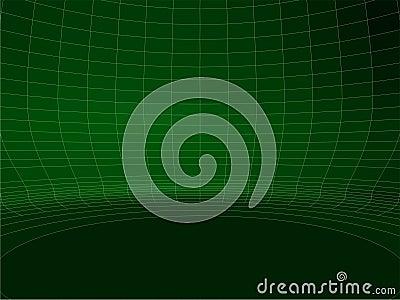 Abstrakcjonistycznej Drucianej sieci zieleni struktury Round Ścienny wektor 02