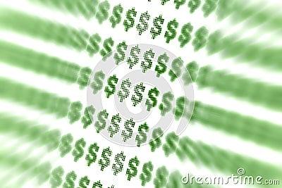 Abstrakcjonistyczny dolarowy znak