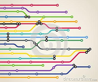 Abstrakcjonistyczny koloru metra plan