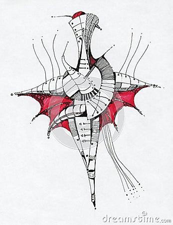 Abstrakcjonistyczny rysunkowy geometrical