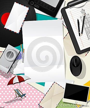 Listowy kolażu abstrakt