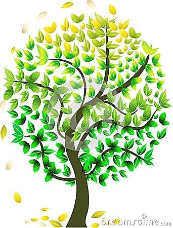 Abstrakcjonistyczny sezonowy drzewo