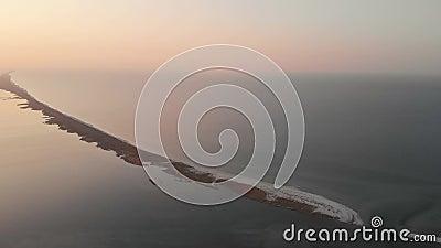 Abstrakcjonistyczny widok morze i horyzont podczas zmierzchu zdjęcie wideo
