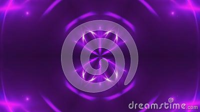 Abstrakt bakgrund med violett kalejdoskopiskt för VJ-Fractal 3d som framför den digitala bakgrunden stock video