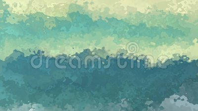 Abstrakt begrepp animerad befläckt färg för aqua för turkos för kricka för blå gräsplan för grunge för sömlös ögla för bakgrund v stock illustrationer