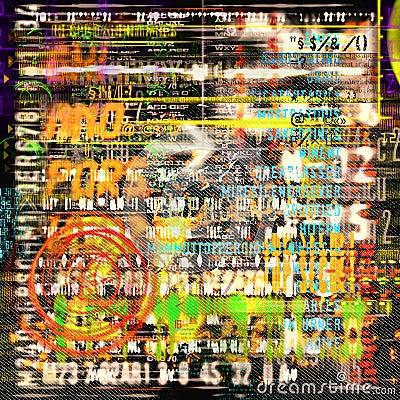 Abstrakt begrepp letters nummer