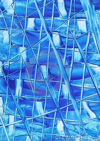 Abstrakt blålinjen