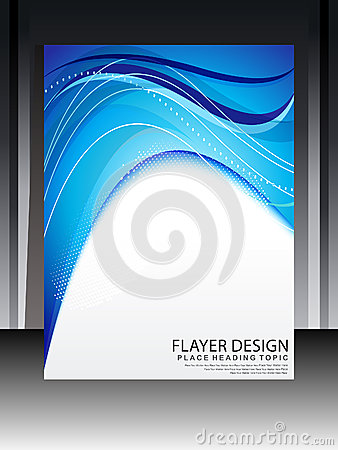 Abstrakt blå Flayer design